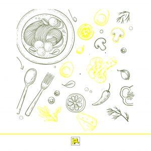 غذا-عاطفه خاص-نمایشگاه-اسپاگتی