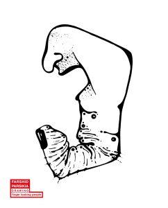 اثر فرشید پارسی کیا از مجموعه انسان های انگشت نما ( بیلاخ نما )