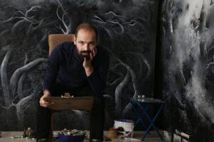 نوید میرزایی هنرمند نقاش، از هنرمندان گالری دنا