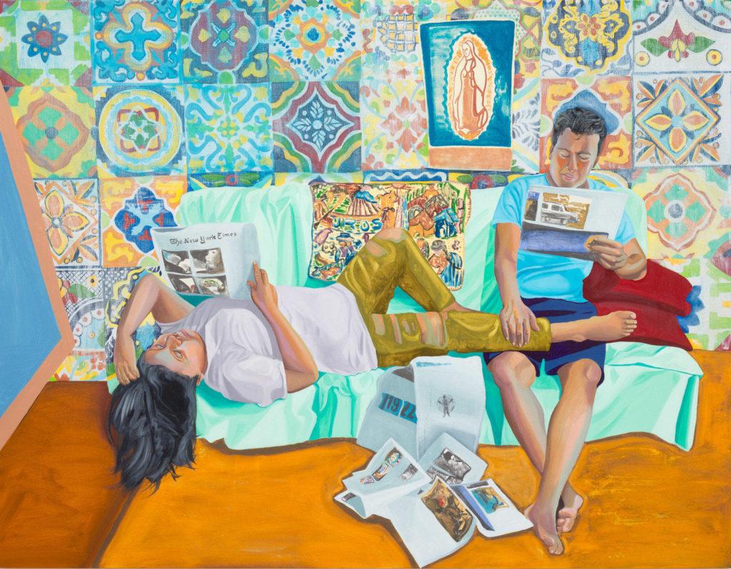 Aliza Nisenbaum, La Talaverita, Sunday Morning NY Times (2016). Courtesy of the artist, Anton Kern Gallery, and Mary Mary. ©Aliza Nisenbaum.