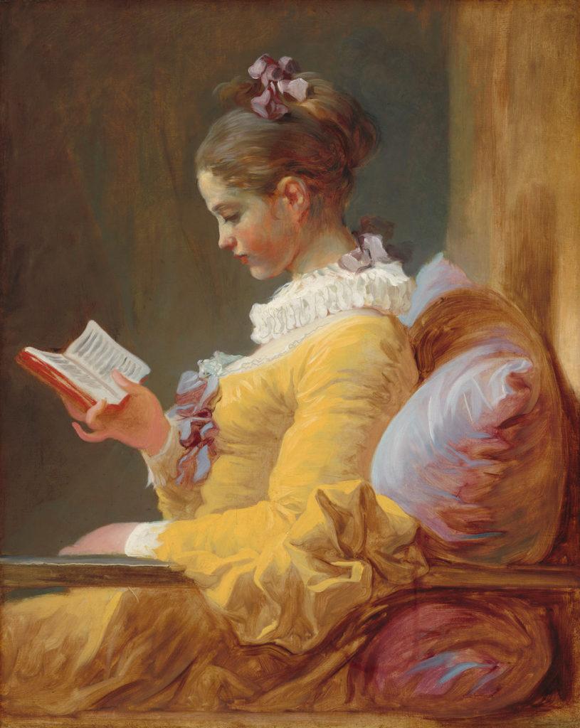 Jean Honoré Fragonard, Young Girl Reading (circa 1769). Courtesy of the National Gallery of Art, Washington, DC.