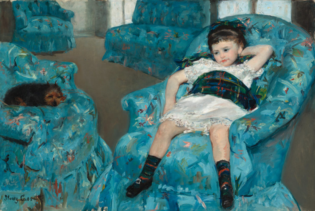 Mary Cassatt, Little Girl in a Blue Armchair (1878). Courtesy of the National Gallery of Art, Washington, DC.