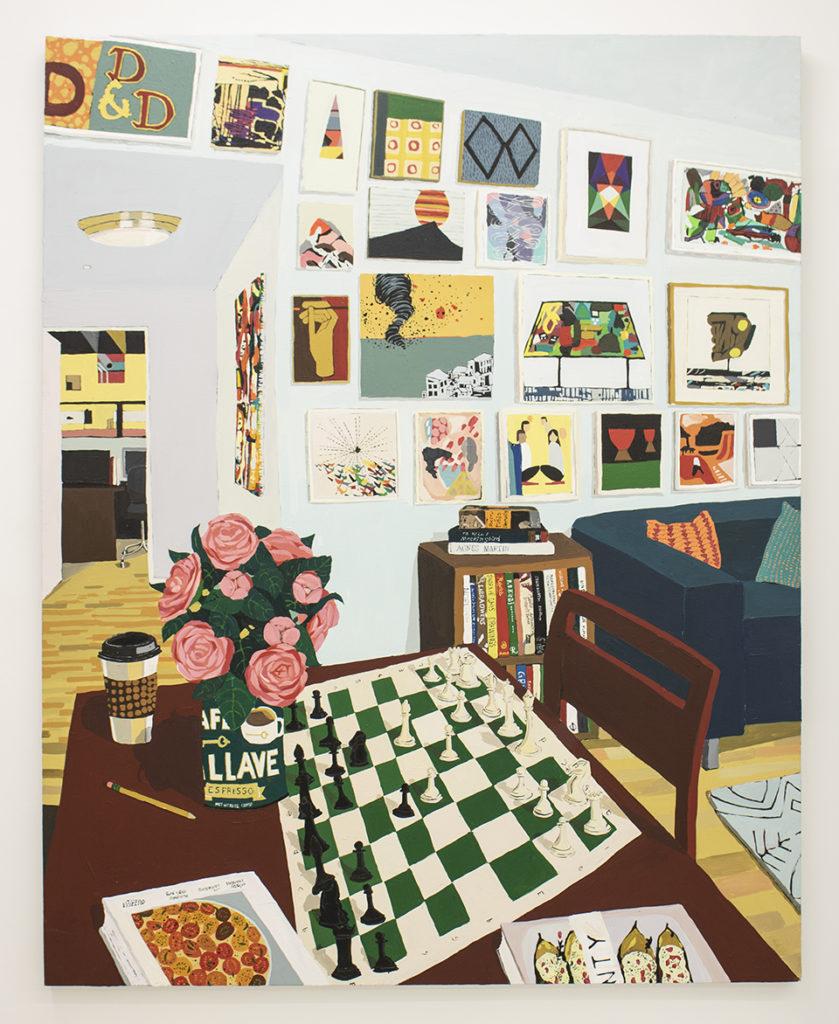 Hilary Pecis, Harper's Game (2019). Courtesy of Halsey McKay Gallery, East Hampton, New York.