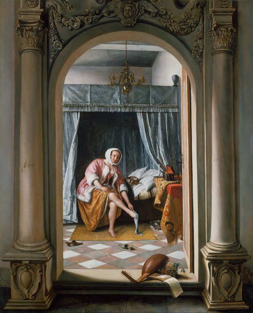 Jan Steen, Woman at Her Toilet (1663). Courtesy of Buckingham Palace.