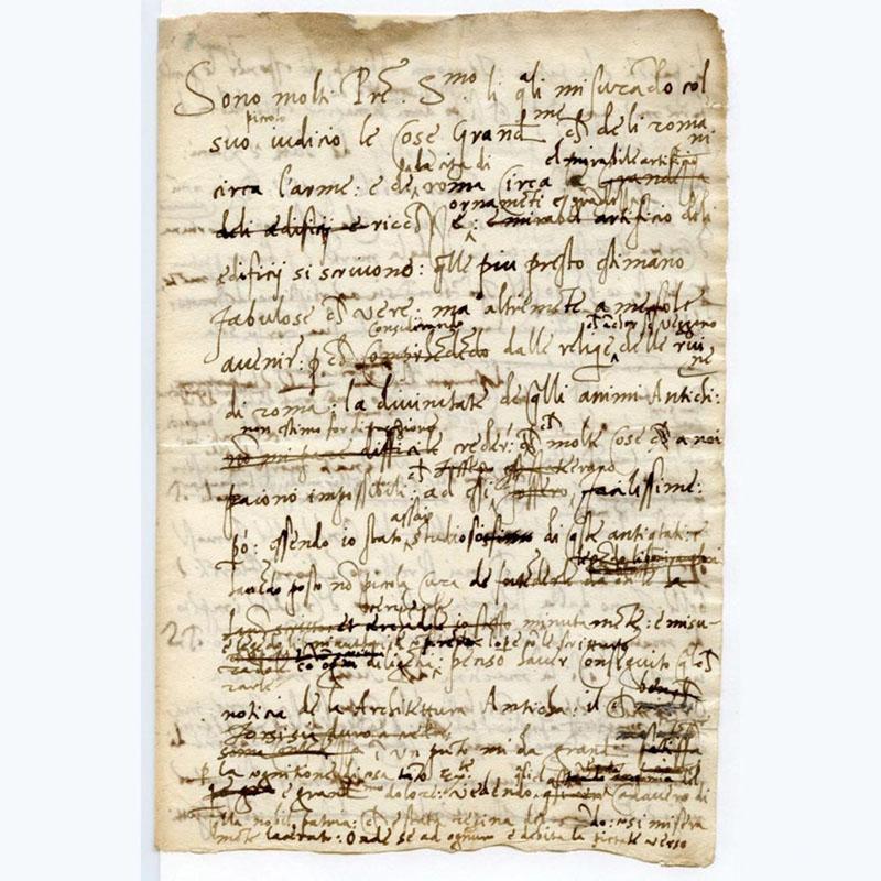 Baldassarre Castiglione, Letter to Pope Leone X (1519).