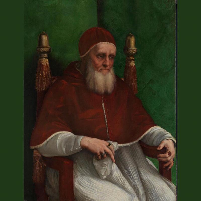 Raphael, Portrait of Giulio II (before March 1512).