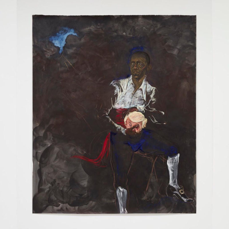 "Kara Walker, Barack Obama as Othello ""The Moor"" With the Severed Head of Iago in a New and Revised Ending by Kara E."