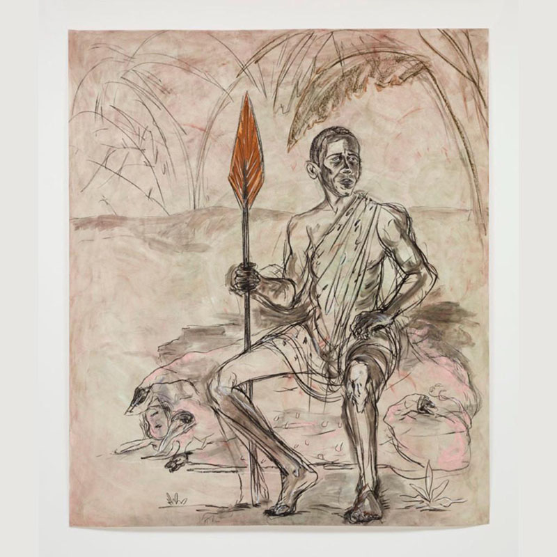 "Kara Walker, Barack Obama as ""An African"" With a Fat Pig (by Kara Walker) (2019)"