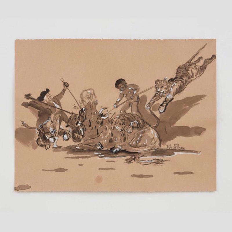 Kara Walker, The Gross Clinician Presents: Pater Gravidam (2018), detail