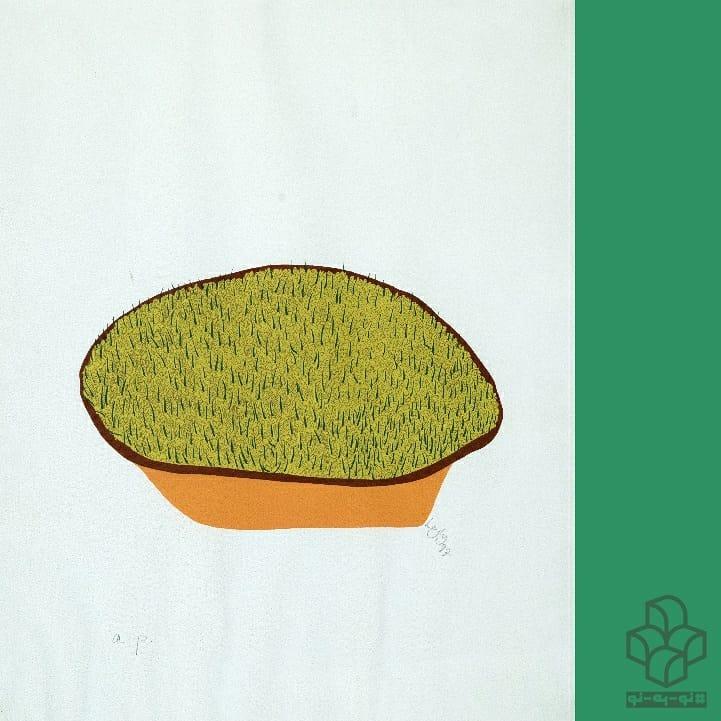نوروز مبارک . #نو_به_نو هر روز یک اثر از #گنجینه_موزه_هنرهای_معاصر_تهران | ۱۱ | . #لیلی_متین_دفتری پس از فارغالتحصیلی از مدرسهی هنرهای زیبای اِسلِید* در سال ۱۳۳۸، به ایران بازگشت و در ابتدا فضاهای آبستره اکسپرسیو (نمونههای به نمایش در آمده در اولین نمایشگاه نقاشان معاصر در جشن هنر شیراز) و در ادامه هیجاننمایی در فضاهای فیگوراتیو (دختران نوازنده – فیگورهای در حال سقوط و فریاد) را تجربه کرد. از نیمهی دههی ۱۳۴۰ او به بیان و لحنی در نقاشی خود دست یافت که میشود به آن لهجهی لیلی متیندفتری لقب داد. این لهجه را میتوان به بازنمایی فضاها (افراد و اشیاء) اطراف هنرمند در بیانی به شدت استیلیزه و تخت، رنگهای منفک و مرزبندیهای دقیقِ تکرنگ و برجسته اطلاق کرد که نشانگر دغدغهی فرمالیستی این هنرمند است. نمونهی درخشانی از این مجموعه، نقاشی رنگ روغنی روی بوم به ابعاد ۱۵۰ در ۱۰۰ سانتی متر از سه زن چادری ایستاده در یک افق در مجموعه موزه هنرهای معاصر تهران است. . مجموعهی چاپ سیلکاسکرین حاضر، شامل پنج قطعه است که مجموعهی موزهی هنرهای معاصر چهار قطعه از ادیشن AP را در اختیار دارد. این مجموعه توسط #گالری_زند برای نوروز ۱۳۵۶ به #متین_دفتری سفارش داده شد و او سنت رویاندن سبزه را در چهار فریم، موضوع این کار قرار داد و آب را به عنوان عنصر رویاننده به عنوان فریم نهایی در سه والور رنگ آبی به نمایش گذاشت. (قطعهای که در مجموعهی حاضر نیست). . تغییر نقطهی دید از فریم اول دانههای گندم در کاسه (از بالا) تا زمان رشد سبزهها ( همسطح با ظرف) بیانی دینامیک به این روند رشد داده است. ظرافت طراحی این مجموعه در کنار چاپ بسیار دقیق آن در ۷۰ نسخه، یکی از مهم پوشههای چاپی هنر مدرن ایران را در همکاری یک هنرمند و یک گالری به یادگار گذاشته است. متن: #علی_بختیاری . * UCL Slade School of Fine Arts . گرافیک: #مهدی_فدوی عکس: #مهناز_صحاف . . لیلی متین دفتری (۱۳۸۶ - ۱۳۱۵) رویش ۱۳۵۶ ش سیلک اسکرین اندازه : ۴۹.۵ * ۶۳.۵ سانتی متر ادیشن: AP مجموعهی #موزه_هنرهای_معاصر_تهران . . Layli Matin-Daftari (Iranian,1937 - 2007) germination 1977 Screenprint Sizes: 63.5 x 49.5 cm The collection of TMoCA Edition: AP