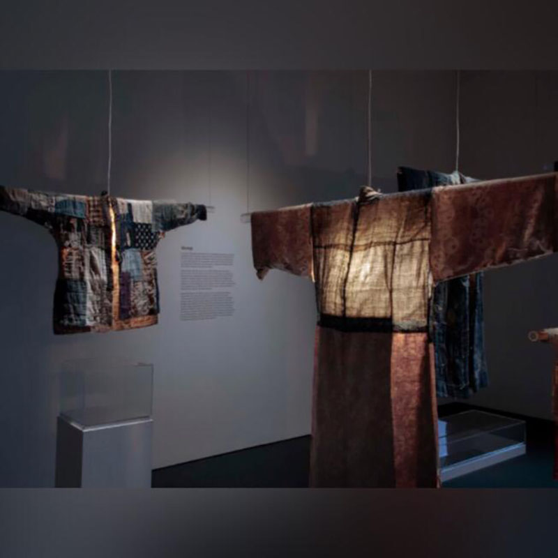 """Installation view, """"Boro Textiles."""""""