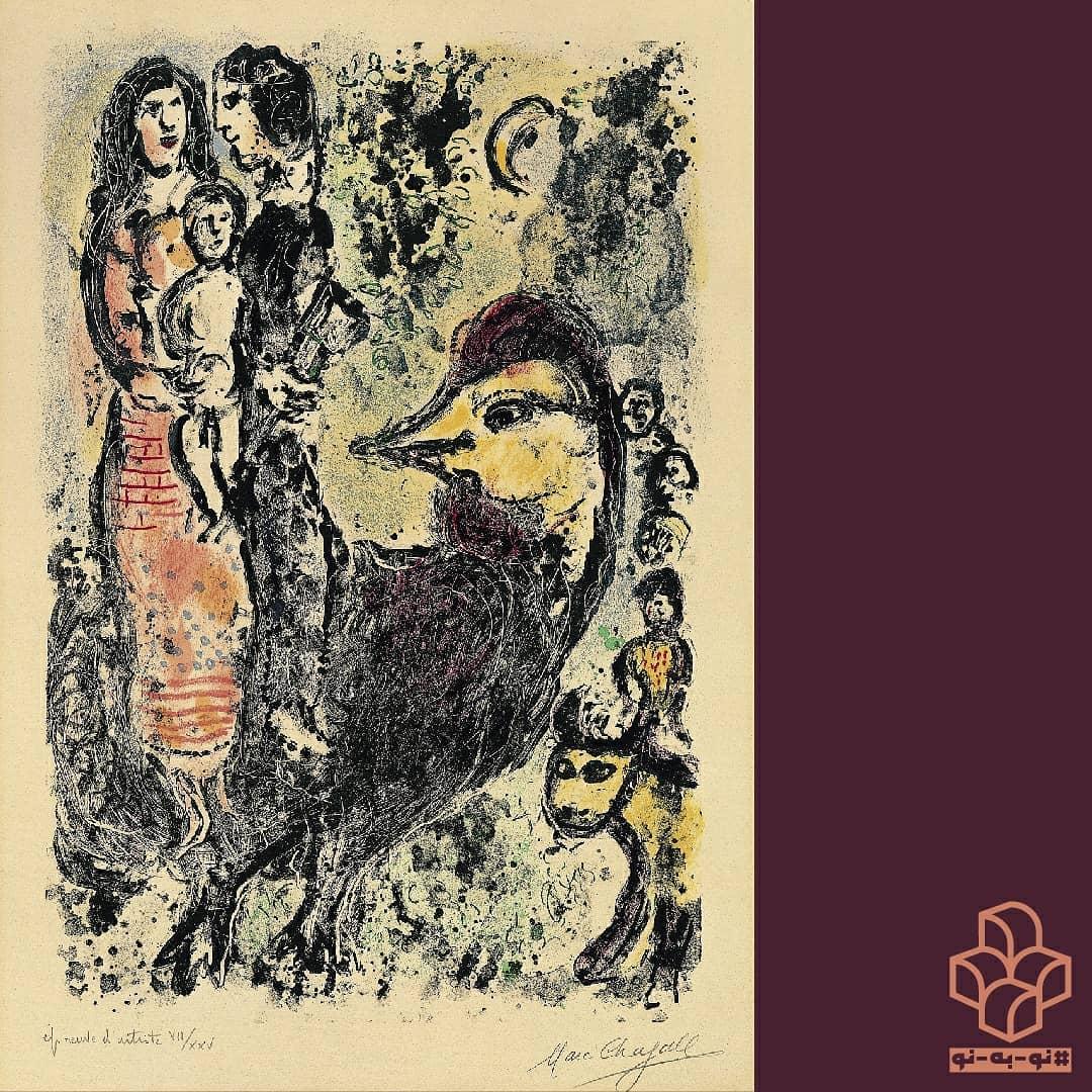 #نو_به_نو هر روز یک اثر از #گنجینه_موزه_هنرهای_معاصر_تهران . | ۲۰ | این اثر #مارک_شاگال که توجه هر بیننده ای را به خود جلب میکند، حس صمیمیت و همبستگی بین افراد یک خانواده را منتقل میکند. در این اثر یک خروس بزرگ با ابعادی نامتناسب و نگاهی خیره که در کنار یک خانواده به تصویر کشیده شده است، حس علاقه، حمایت و وفاداری این حیوان به خانواده را نشان میدهد. مخاطب در نگاهی اجمالی به این اثر با مشاهدهی هلال ماه، خروس و طلوع آفتاب، در مییابد که روز تازه آغاز شده است. با حضور خروس و همچنین کودک، بیننده میتواند اینچنین استنباط کند که این اثر به موضوعاتی مانند تولد دوباره و بیداری اشاره دارد و هر دو را در یک نور مثبت قرار میدهد. #شاگال از رنگهای مشکی و خاکستری که در تضاد با لکههای زرد اشباع شده است استفاده میکند و این تضاد باعث میشود که خروس و مادر و کودک به طور ویژهای در چشم بیینده ظاهر شوند. استفاده از رنگهای ملایم با خطوط نازک و نامنظم مثال خوبی است از مهارت وی در خلق تصویری که حس آرامشی غریبی را به بیننده القاء میکند، در حالی که از فرمها با جسارت کامل در سوژه و موضوعات انتخابی آثارش استفاده میکند. گردآوری متن: #الناز_هاشم_زاده @elnazhashemzade ترجمه: #شیرین_اردیبهشتی @shirin_1356 . . گرافیک: #مهدی_فدوی @mehdifadavi59 عکس: #مهناز_صحاف @mahnazsahaf . مارک شاگال خانواده با خروس ۱۹۶۹ م لیتوگراف اندازه تصویر: ۴۴ * ۶۳ سانتی متر اندازه کاغذ: ۴۶.۵ * ۶۷.۵ سانتی متر ادیشن: VII / XXV مجموعهی موزه_هنرهای_معاصر_تهران Marc Chagall (Russian-French,1887 - 1985) Family with cock 1969 Color lithograph Image sizes: 63 x 44 cm Paper sizes: 67.5 x 46.5 cm Edition: VII / XXV The Collection of TMoCA .