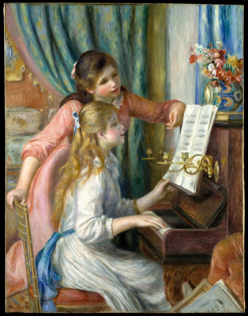 Auguste Renoir, Two Young Girls at the Piano (1892). Courtesy of the Metropolitan Museum of Art.