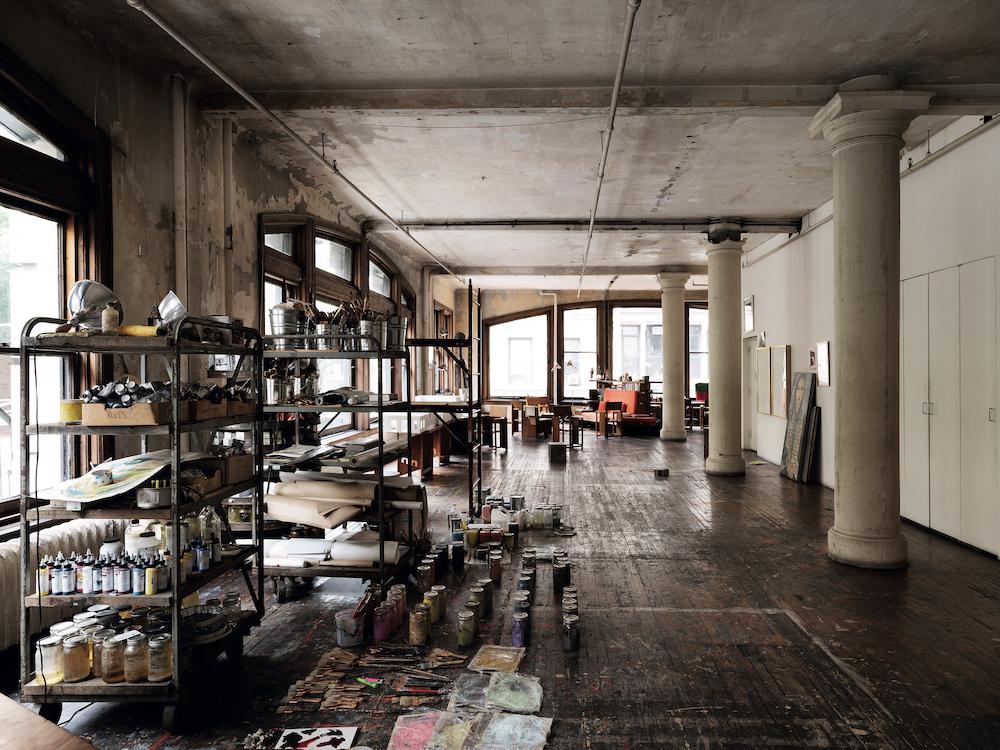 Francesco Clemente's New York studio, 2018. © Marco Anelli.