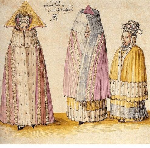 Albrecht Durer, Three Mighty Ladies from Livonia (1521). Courtesy of Wikimedia Commons.