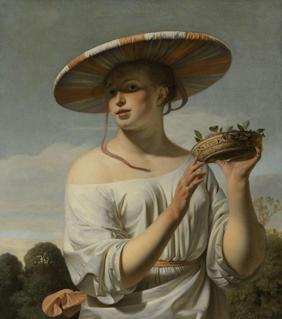 Cesar van Everdingen, Girl in a Large Hat (1650).