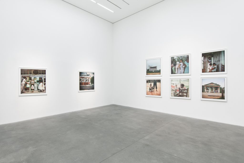 "Installation view, ""Gordon Parks: Part One"" courtesy of Alison Jacques Gallery, London."