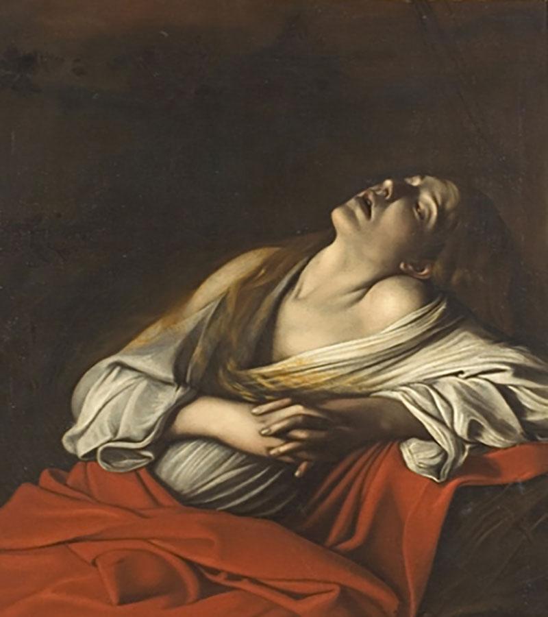 Caravaggio, Mary Magdalen in Ecstasy (1610).