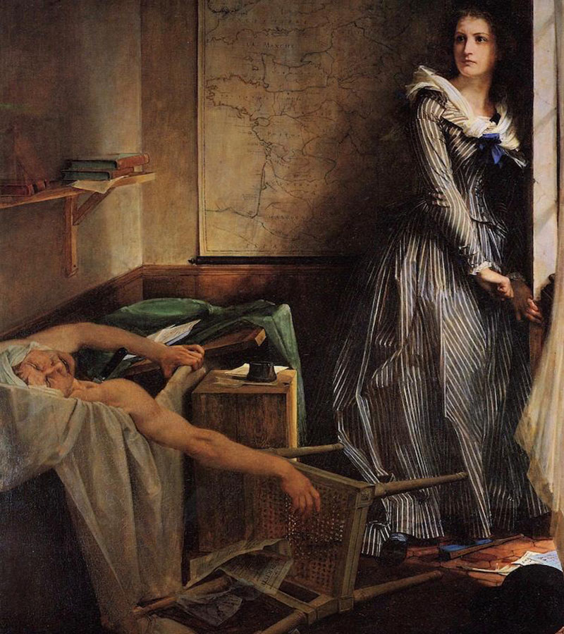 Paul Jacques Aimé Baudry, Charlotte Corday After the Murder of Marat (1860)