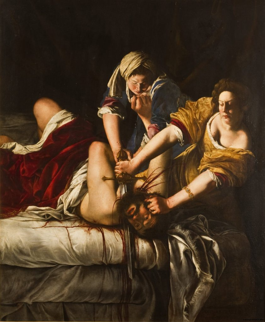 Artemisia Gentileschi, Judith Beheading Holofernes (1620–1621). Collection of the Uffizi Galleries