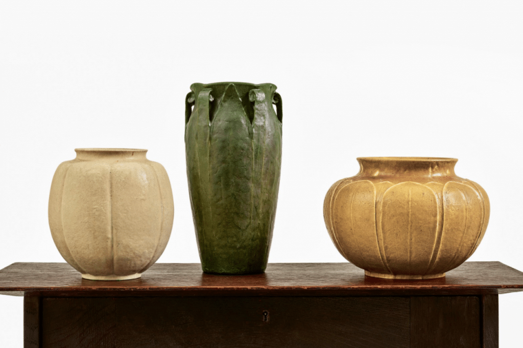 The vase on the right is the one you'll be interested in. Courtesy of Sotheby's.