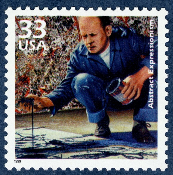 Jackson Pollock Abstract Expressionism. ©United States Postal Service