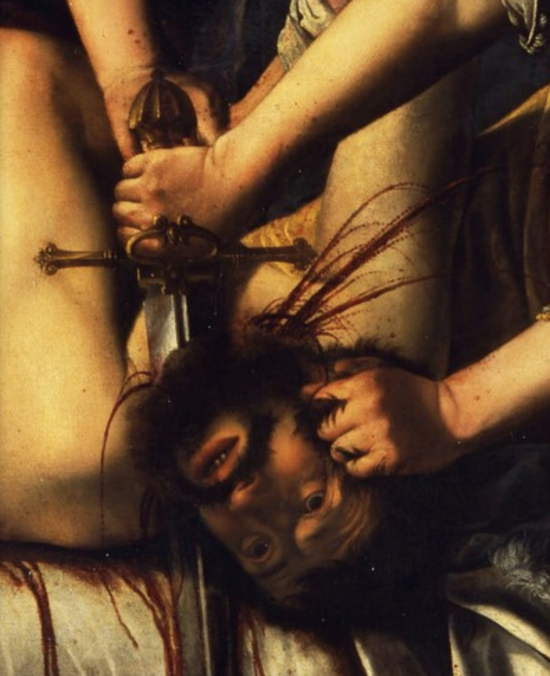 Detail of Judith Beheading Holofernes.