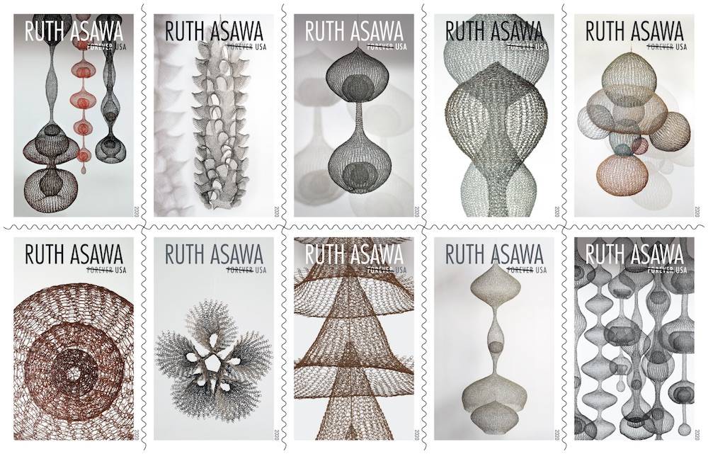 Ruth Asawa stamps. ©2020 U.S. Postal Service. All rights reserved.