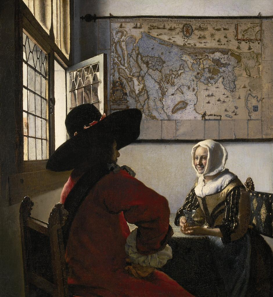 Johannes Vermeer, Officer and Laughing Girl (1657).