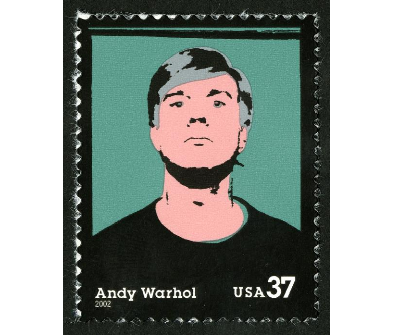 Andy Warhol, Self Portrait (1964). ©United States Postal Service