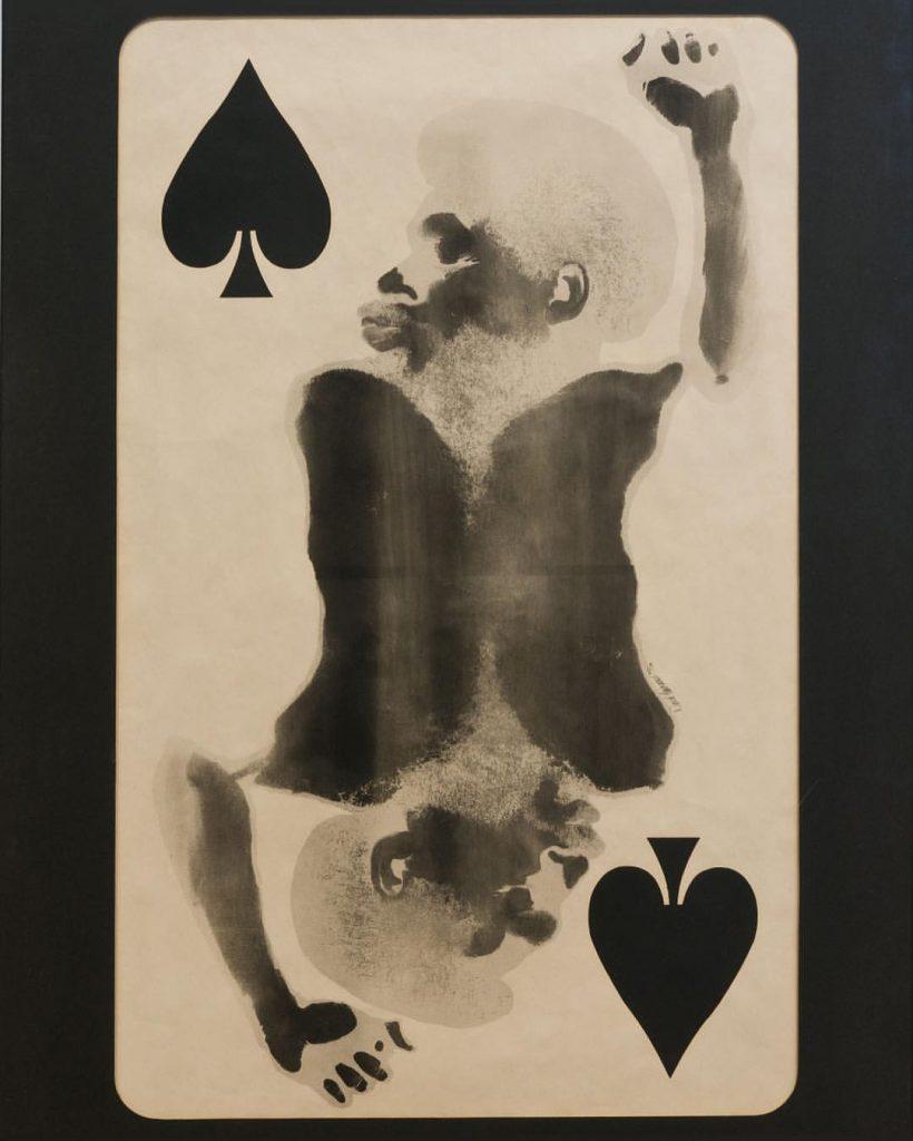 David Hammons, Spade (Power for the Spade), 1969. Courtesy of David Hammons/the Tilton Family Collection.