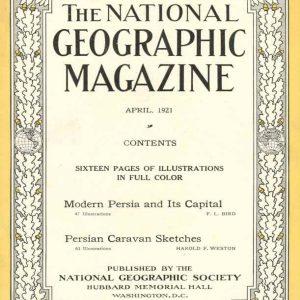 تصاویر مجله National Geographic از ایران در سال 1921