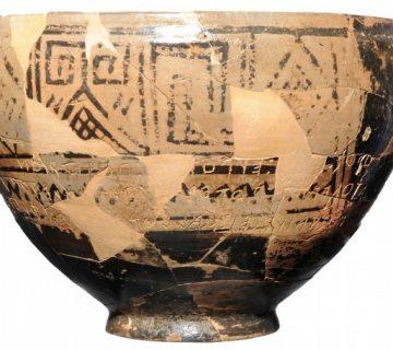 جام سفالین مقبره ۲۸۰۰ ساله جزیره Ischia ایتالیا